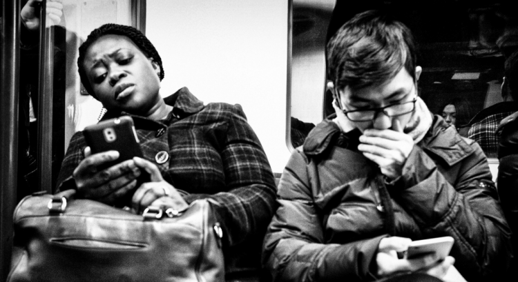 British people don't talk to each other on public transport